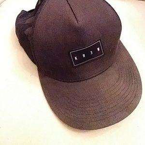 KREW black/ charcoal gray baseball hat